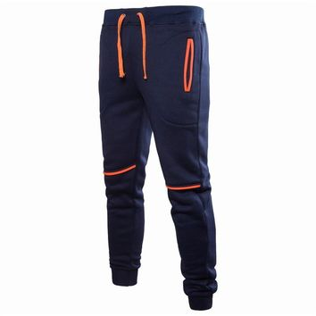 CYXZFTROFL2018 autumn and winter new men's casual sports pants stitching design feet casual pants jogging sports pants zhanghao