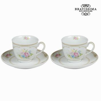 Set of 2 tea cup with plate & box - Kitchen's Deco Collection by Bravissima Kitchen