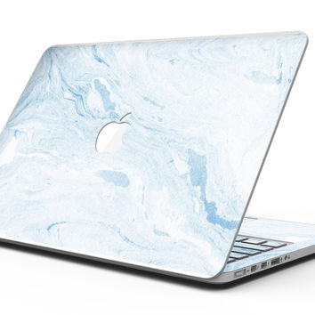 Mixtured Blue 60 Textured Marble - MacBook Pro with Retina Display Full-Coverage Skin Kit
