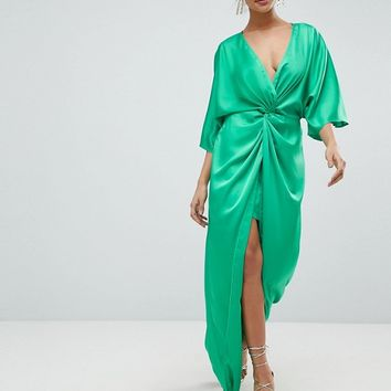 ASOS Kimono Twist Front Maxi Dress at asos.com