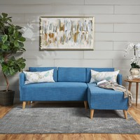 Andresen Mid Century Modern Fabric Chaise Sectional