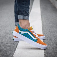 "Vans X Golf Wang old skool pro ""Orange/Blue"" Grid"