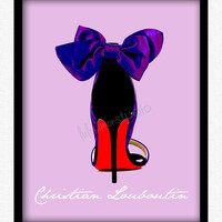 8 x 10 Wall Decor Print, Modern Home Decor, Print for Walls, Shoe Print-Christian Louboutin Pumps