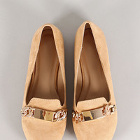 Triss-9 Metallic Embellished Round Toe Loafer Flat