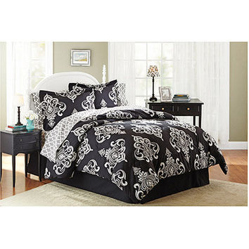 Walmart: Mainstays Traditional Medallion Bed in a Bag Bedding Set