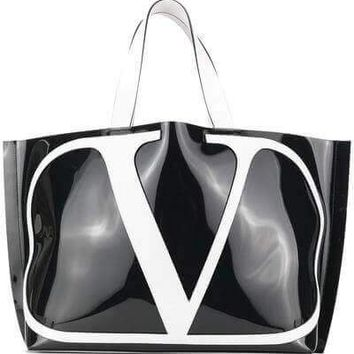 Patent Leather Tote Bag by Valentino