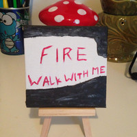 Twin Peaks Fire Walk With Me Mini Painting