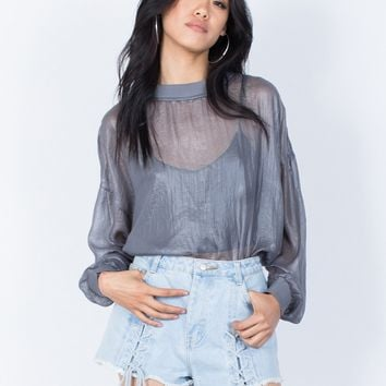 See Right Through Me Blouse