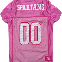 Michigan State Spartans (MSU) Pet Mesh Jersey in Pink