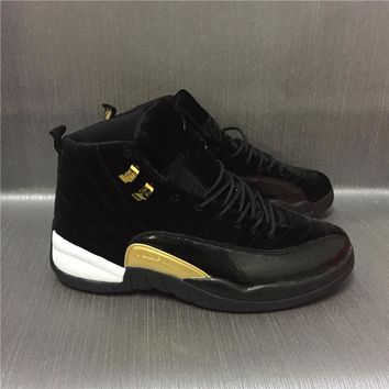 Air Jordan 12 Retro Velvet Black Sport Shoes 36-47