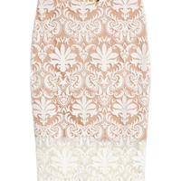 Patterned Mesh Skirt - from H&M