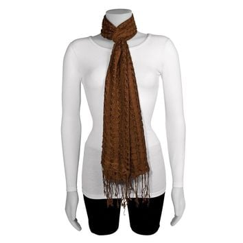 Brown Fashion Scarf