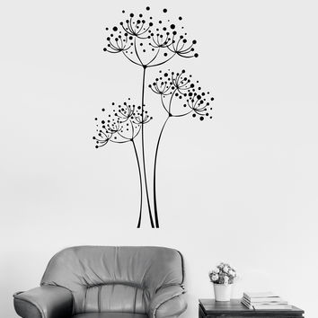 Vinyl Wall Decal Dandelion Flowers House Floral Art Room Decoration Stickers (ig2981)