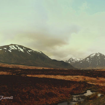 Scotland Photography, Mountain Photography Print, Large Wall Art, Scotland Art, Travel Photography, Earth Tones, Large Wall Decor