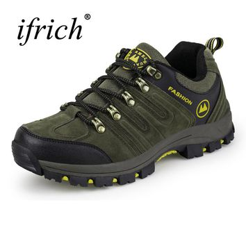 Leather Outdoor Shoes Men Hiking Shoes Mountain Boots Autumn/Winter Trekking