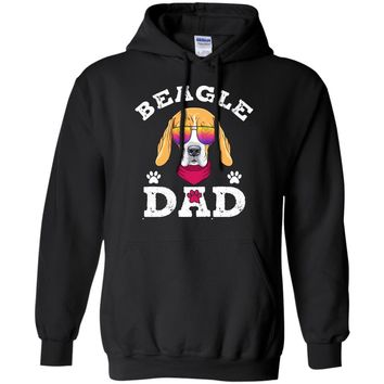 Mens Beagle Dad T-shirt Gifts For Fathers Day 2017 Dog  Pullover Hoodie 8 oz