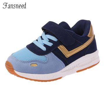 Autumn and autumn new children's shoes girls breathable running shoes boys soft bottom shoes casual sneakers