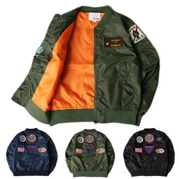 YouthCodes Military Medal Badge MA1 Bomber Jackets Men USA Army Flying Tigers Sharks Windbreaker Pilot Slim Kanye West Coats Men