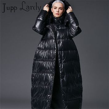 Plus Size2017 Brand New Winter Long Down Jacket Hooded 90% Duck Down Costs Female Thicken Warm Hoodies Parkas Down Coats717JP066