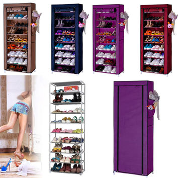 Homestyle Shoe Cabinet Shoes Racks Storage Large Capacity Home Furniture Diy Simple 9 Layers Domestic Delivery