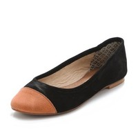 Matt Bernson Mulberry Two Tone Cap Toe Flats | SHOPBOP