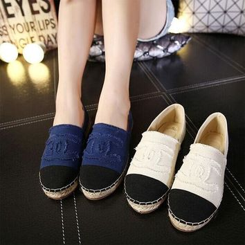 All-match Fashion Multicolor Casual Canvas Shoes Weave Shoes Lazy Flats Shoes Single Shoes