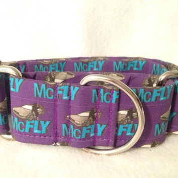 """Back to the Future McFly Martingale or Quick Release Collar 1"""" Quick Release 1.5"""" Martingale 2"""" Martingale Collar"""