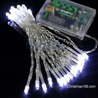 Perfect Holiday 50 LED String Light Battery Operated - White - Walmart.com