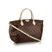 Authentic Louis Vuitton LV Monogram Canvas Turenne GM Tote Bag Handbag Article: M48815 Made in France