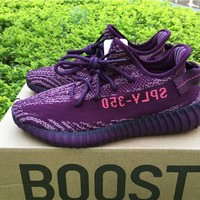 Best Online Sale Kanye West x Adidas Yeezy 350 V2 Boost Red Night Sport Shoes  Running Shoes B37573