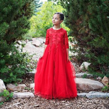 Red Gwendolyn Gown Dress - Toddler, Girls & Juniors