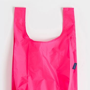 Hot Pink Standard Reusable Shopping Bag by Baggu