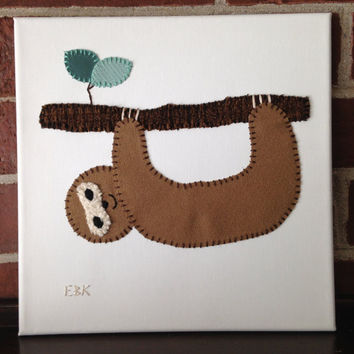 Sloth #1 Fabric Wall Art