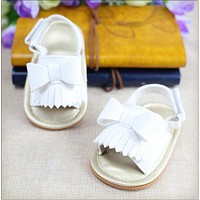 Summer Newborn Baby Girl Shoes Summer Rubber Bow Cute Sandals Toddler Casual Crib Shoes Baby Girls