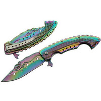 Mermaid Rainbow Folding Knife