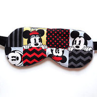 Cotton Sleep Eye Mask Mickey Mouse Minnie Night Blindfold Travel Eyemask Teen