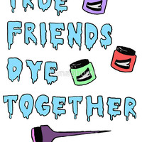 Dye Together Sticker