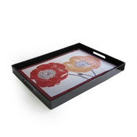 Accents by Jay Poppy's Touch Rectangular Tray