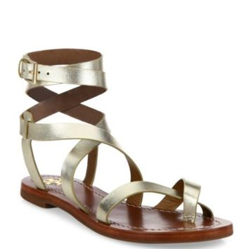 Tory Burch - Patos Crisscross Leather Sandals