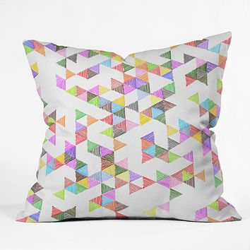 Fimbis Technicolour Raindrops Throw Pillow