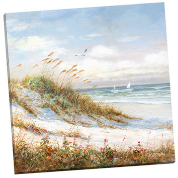 Portfolio Canvas Decor 'Sea Breeze I' Robin Scott 24-inch x 24-inch Wrapped Canvas Wall Art   Overstock.com Shopping - The Best Deals on Gallery Wrapped Canvas