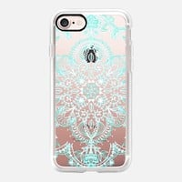 Aqua and White Lace Mandala - transparent iPhone 7 Case by Micklyn Le Feuvre | Casetify