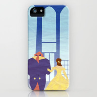Disney - Belle & Beast iPhone & iPod Case by Jessica Slater Design & Illustration
