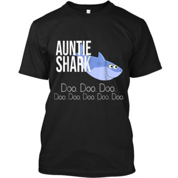 """Auntie Shark"" Baby Mommy Daddy Matching Family Shark  Custom Ultra Cotton"