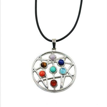Hinduism Mandala Zen Tree Of Life Healing Reiki Meditation 7 Chakras Necklaces&Pendants Yoga Jewelry collier femme  bijoux Women style2