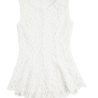 Sleeveless Lace Peplum Top