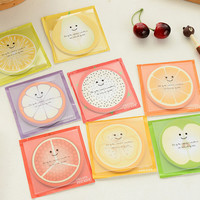 Novelty Fresh Fruit Memo Pad Self-Adhesive Sticky Notes Post It Bookmark School Office Supply Gift Stationery