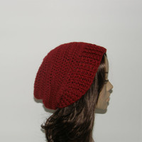 Everyday Slouch Hat  Cranberry