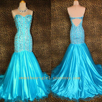 Gorgeous Blue Mermaid Prom Dress/Evening Dress