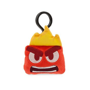 Disney Anger Emoji Plush Backpack Clip Inside Out New with Tags